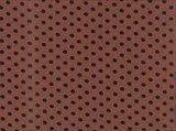 Kito: tricot donkeroudroze/roodbruin met zwarte noppen_