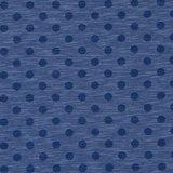 Nadine: tricot jeansblauw gemêleerd met donkerblauwe noppen_