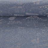Pondero = reflecterende softshell: dino's zilver op jeansblauw_