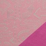 Pondero = reflecterende softshell: pijlen op zacht roze_