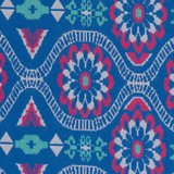 Tricot Daisy Chain by jolijou *Swafing exclusive*, Jacquard-Jersey blauw_