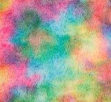regenboog tie dye langhaar pluche of nepbont_