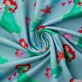 Disney's tricot ariel op blauw_