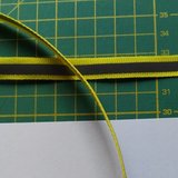 1 cm breed ribsband met reflecterende streep op geel _