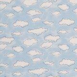 Mini winter: cremekleurige wolkjes op lichtblauw  _