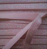 roze elastiek met glitterdraad_