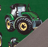 coupon 100 cm: Fiete: softshell: grote en kleine tractors in het groen! _