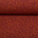 Vera, spikkeltjestricot, paars op oranje, van verder weg lijkt het rood_