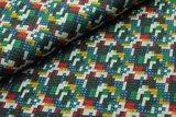 Tricot met de bekende bouwsteentjes rood/zwart/groen/blauw/geel_