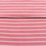 fijne boordstof gestreept: 5 mm strepen: oudroze/roze/lichtgrijs_