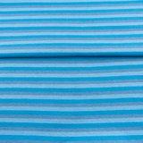 fijne boordstof gestreept: 5 mm strepen: turquoise/lichtblauw/grijs_