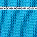 Tricot turquoise met 'gebreide steken' digitale print_