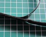 heel dun zacht en soepel klittenband 2 cm breed / ZWART_