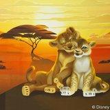 Lion King panel  60 bij 50 cm. Simba met Nala_