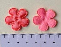 25mm bloem, koraalroze met randje