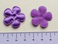 25mm bloem, donkerpaars satijn met randje
