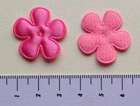 25mm bloem, roze satijn met randje
