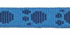 stevig tassenband 20 mm, pootje blauw/zwart