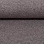 Heike melange: fijne boordstof gemêleerd grijs