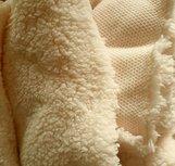 Teddy: bijzonder zachte rekbare stof, echte knuffelstof! creme