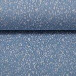 Susi, jacquard tricot licht-jeansblauw/wit gespikkeld