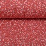 Susi, jacquard tricot koraal/wit gespikkeld