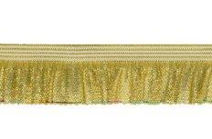 zeer elastisch rucheband, lime-goud metallic