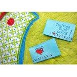 Crafting with LOVE, 4 etiketjes, blauw