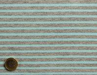 HILCO campan gemeleerd grijs /licht turquoise gestreept