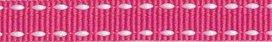 ribsband/ fuchsia met witte rijgdraad