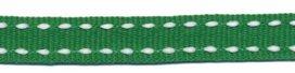 ribsband/ groen met witte rijgdraad