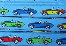 cabrio's op turquoise geweven sierbandje