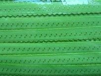 lime omvouwelastiek met klein schulprandje op de vouw