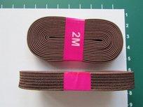 bosje elastiek 1 cm breed: bruin