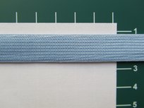 Elastiek 1,5 cm breed, lichtblauw