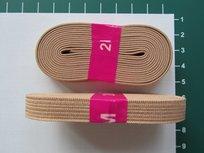 bosje elastiek 1 cm breed: lichtbruin/beige