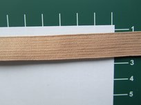 Elastiek 1,5 cm breed, lichtbruin/beige