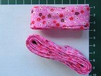 bosje biaisband: kleine bloemetjes op roze