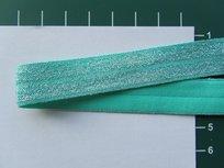 omvouwelastiek met ingeweven glitterdraad:mint