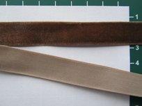 fluweelband, bruin