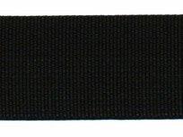 stevig tassenband 3,8 cm breed, zwart