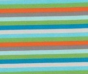 Gala: kleurenstrepen grijs/groen/turquoise/oranje