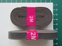 bosje elastiek 1 cm breed: grijs