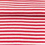 fijne boordstof rood/wit