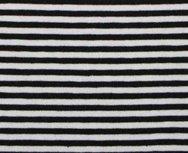 Gitta: strepentricot zwart/witte streep