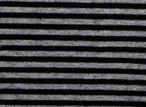 Gitta: strepentricot zwart-grijs 160 breed