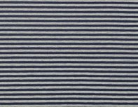 Gitta: strepentricot donkerblauw/grijs gemêleerde streep