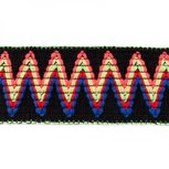 Sierelastiek 6 cm breed: zigzag zwart
