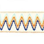 Sierelastiek 6 cm breed: zigzag wolwit
