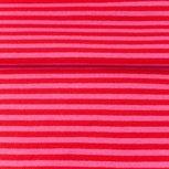 fijne boordstof roze/rood- streep 3,3 mm
